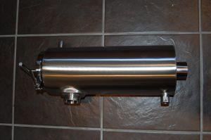 Stainless Steel Hygienic Jacketed 90deg Filter